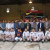 شهردار،امام جمعه و عضو شورا با حضور در آتشنشانی شهرداری عالیشهر یاد شهدای حادثه پلاسکو را گرامی داشتند