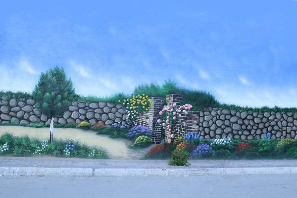 نقاشی و زیباسازی دیوار های مخدوش سطح شهر